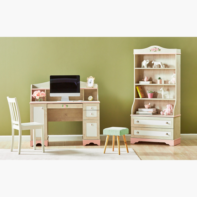 Evelyn 2-Drawer Bookcase with Shelves