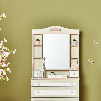 Evelyn 2-Drawer Hutch Attachment with Mirror