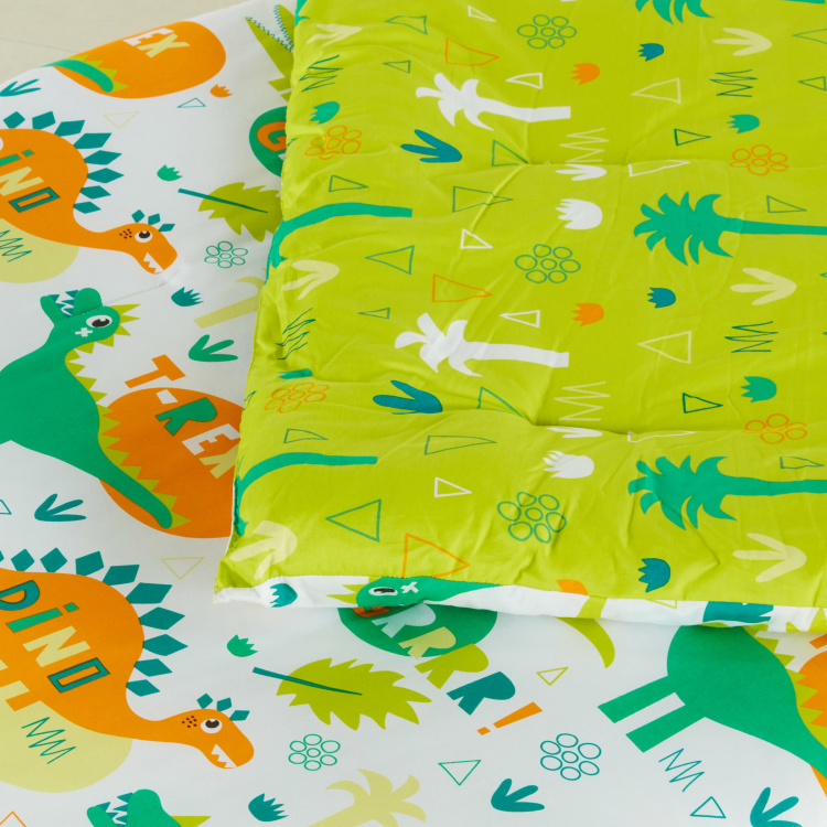 Dennis Dino Printed Comforter and Pillow Cover Set - 135x220 cms