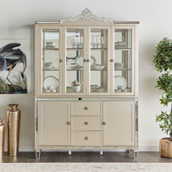 Suzani 3-Drawer Buffet with 2-Doors and Hutch