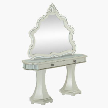 Suzani Mirror Console Table with 2 Drawers