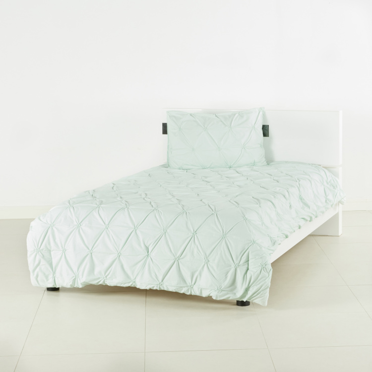 Twist Knot 2-Piece Comforter and Pillow Case Set - 160x240 cms