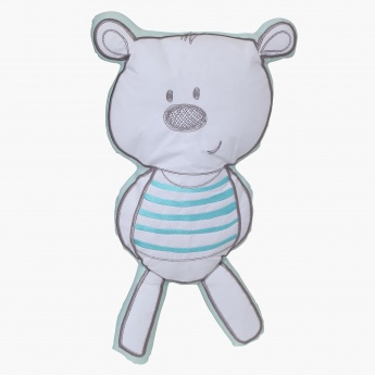 Barny Teddy Shaped Cushion - 23x46 cms