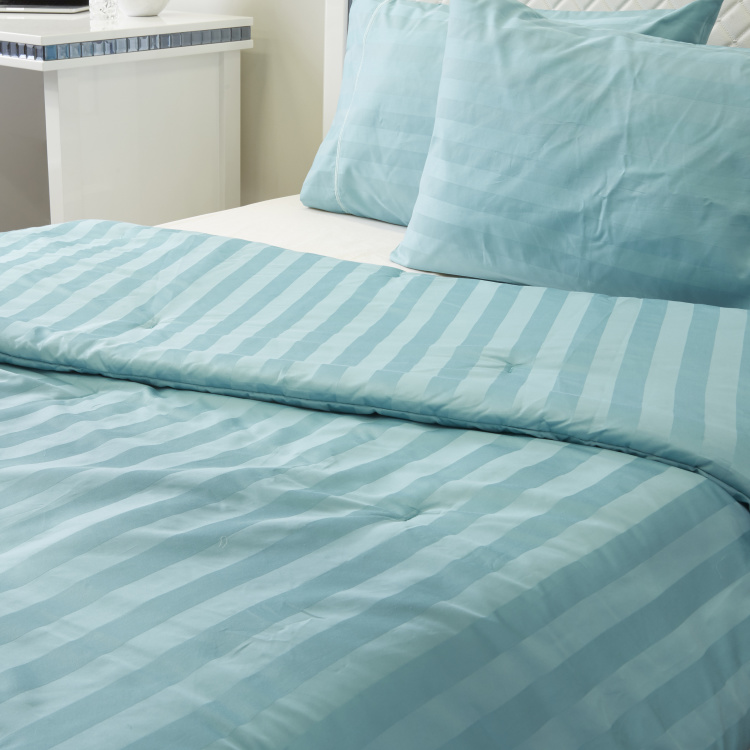 Satin Stripe 3-Piece Super King Comforter Set - 250x260 cms