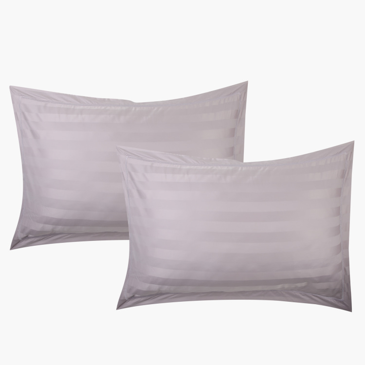 Striped 2-Piece Pillow Cover Set - 50x75 cms