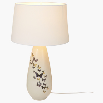 Chloe's Butterfly Printed Electric Table Lamp