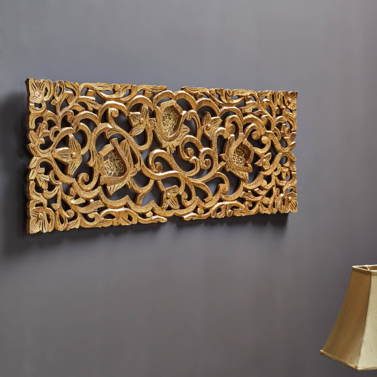 Vine Divine Decorative Carved Mosaic Wall Panel