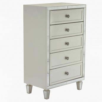 Mono Suzani 5-Drawer Chest of Drawers
