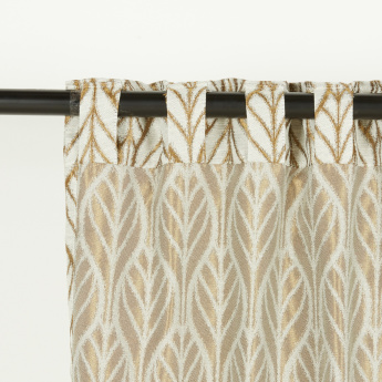 Seaside Printed Unlined Curtain Pair - 135x240 cms
