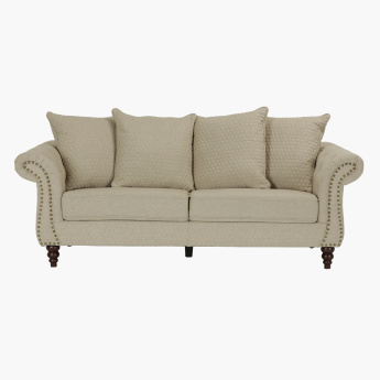 Lucas Textured 3-Seater Sofa