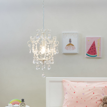Sophia Embellished Chandelier with Holder and Chain
