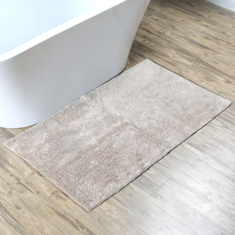 Textured Plush Bath Mat - 70x120 cms