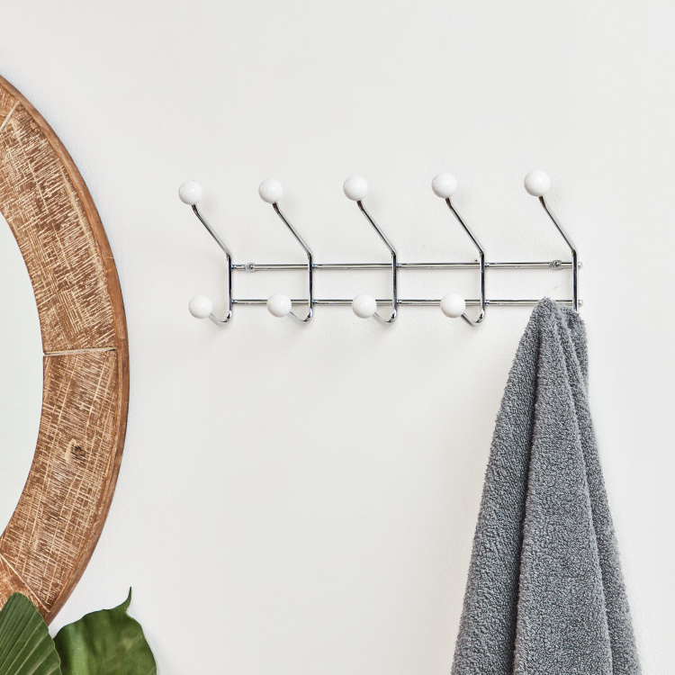 Kent Wall Mounted 5-Hook Rack