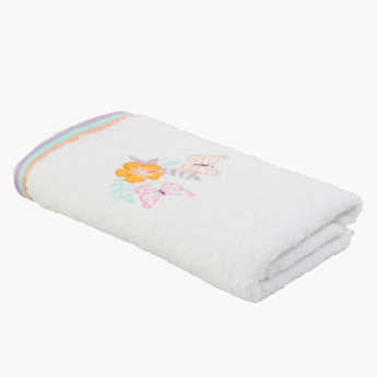 Kelly's Butterfly Embroidered Hand Towel - 50x90 cms