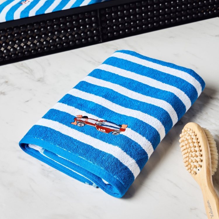Champ's Racer Striped Bath Towel with Embroidery - 70x140 cm