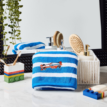 Champ's Racer Striped Bath Towel with Embroidery - 70x140 cms