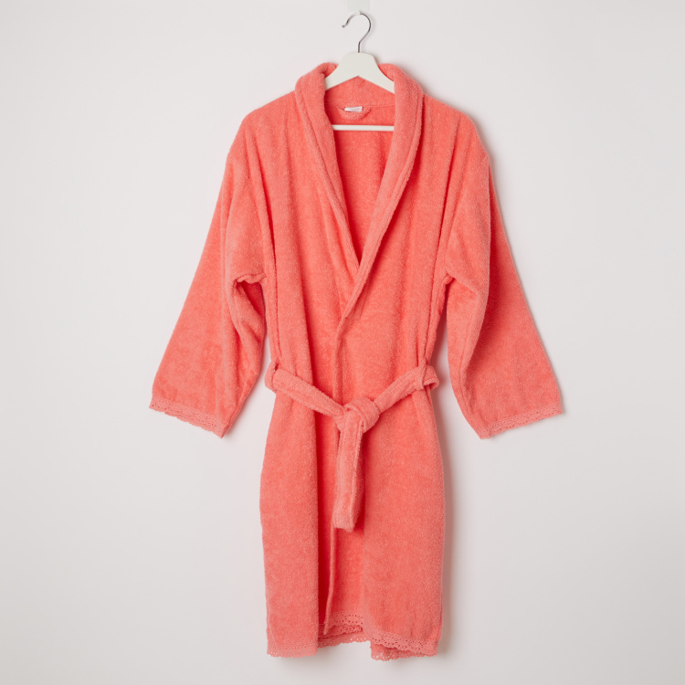 Candy's Long Sleeves Bathrobe with Tie Up