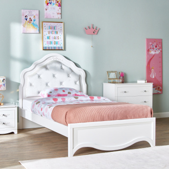 Valentina Panelled Full Bed with Headboard - 206x128 cms