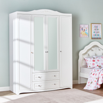 Valentina 4-Door Wardrobe with Mirror and 2-Drawers