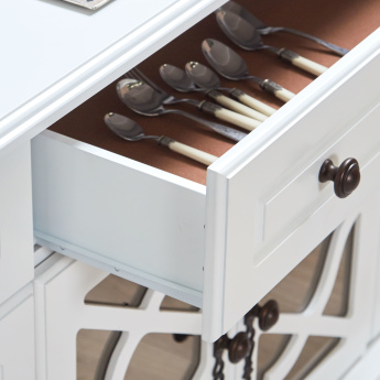 Angelina 3-Drawer 4-Door Buffet Table
