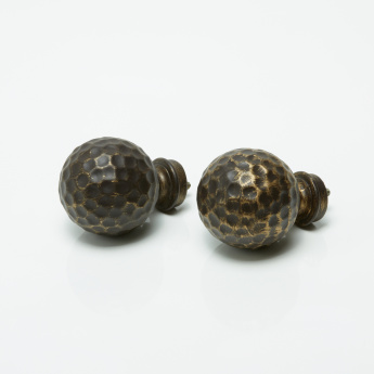 Hammered Curtain Knob - Set of 2