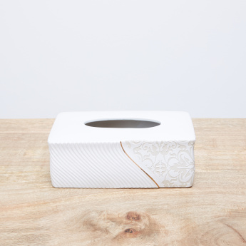 Creek Engraved Tissue Box Cover