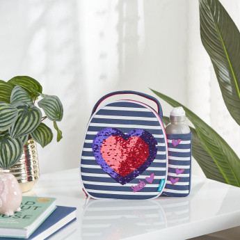 Embellished Lunch Bag with Bottle