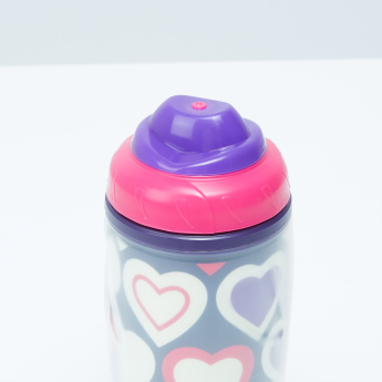 Heart Printed Water Bottle - 420 ml