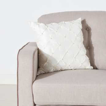 Amelia Filled Cushion with Pearl Detail - 45x45 cms