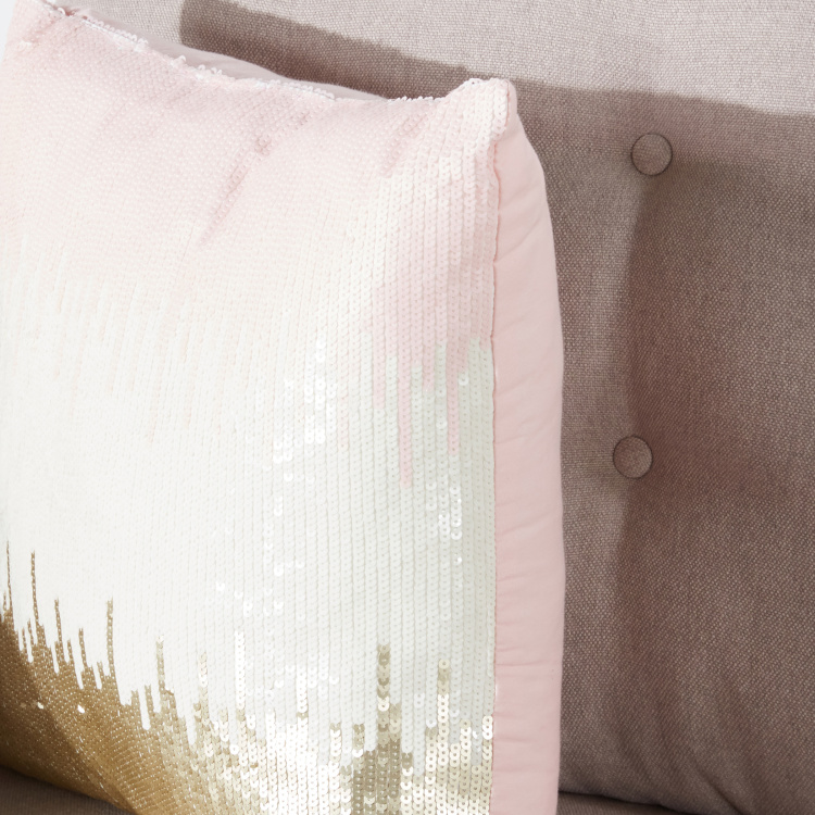 Adriana Sequin Detail Filled Cushion - 45x45 cms