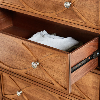 Lillian 5-Drawer Chest of Drawers with Metallic Handles