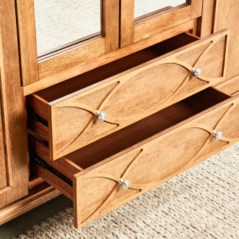 Lillian 6-Door Wardrobe with Mirror