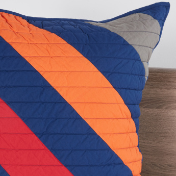 Derek's Quilted Patchwork Pillow Case - 65x65 cms