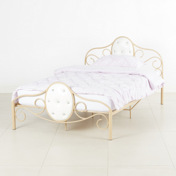Ellie Full Bed with Upholstered Headboard and Footboard - 208x125 cms