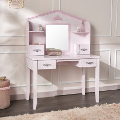 Royal Story Dressing Table with Hutch and Mirror