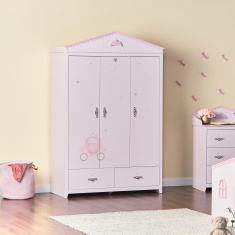 Royal Story New Printed 3-Door Wardrobe