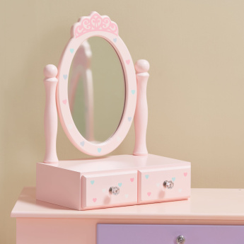 Princess 2-Drawer Dressing Table with Mirror