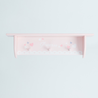 Princess Wall Shelf with Hooks