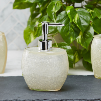 Crucian Glossy Textured Soap Dispenser