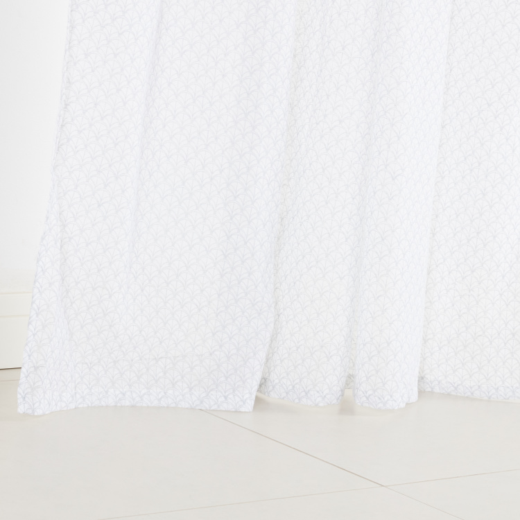Fishscale Printed Sheer Curtain Pair - 140x240 cms