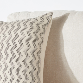 Chevron Printed Cushion Cover with Zip Closure - 40x65 cms
