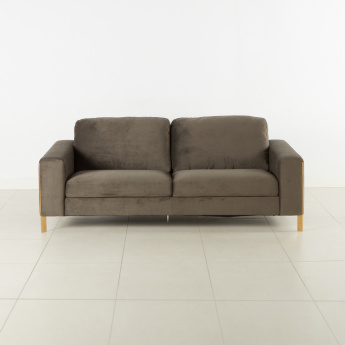 Clemence 3-Seater Sofa with Metallic Legs