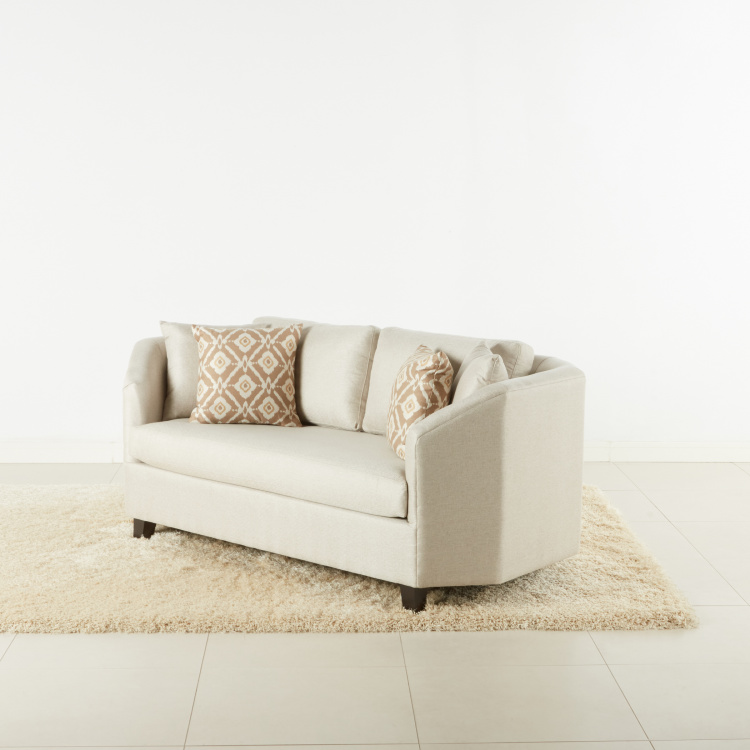 Crosstown Textured 2-Seater Sofa with Scatter Cushions