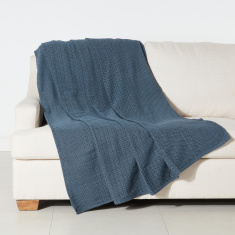 Diamond Dobby Textured Throw - 150x200 cms