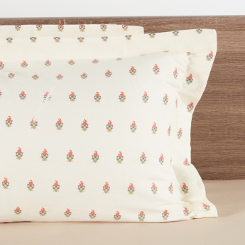 Mahogany Printed 2-Piece Pillow Cover Set - 50x75 cms