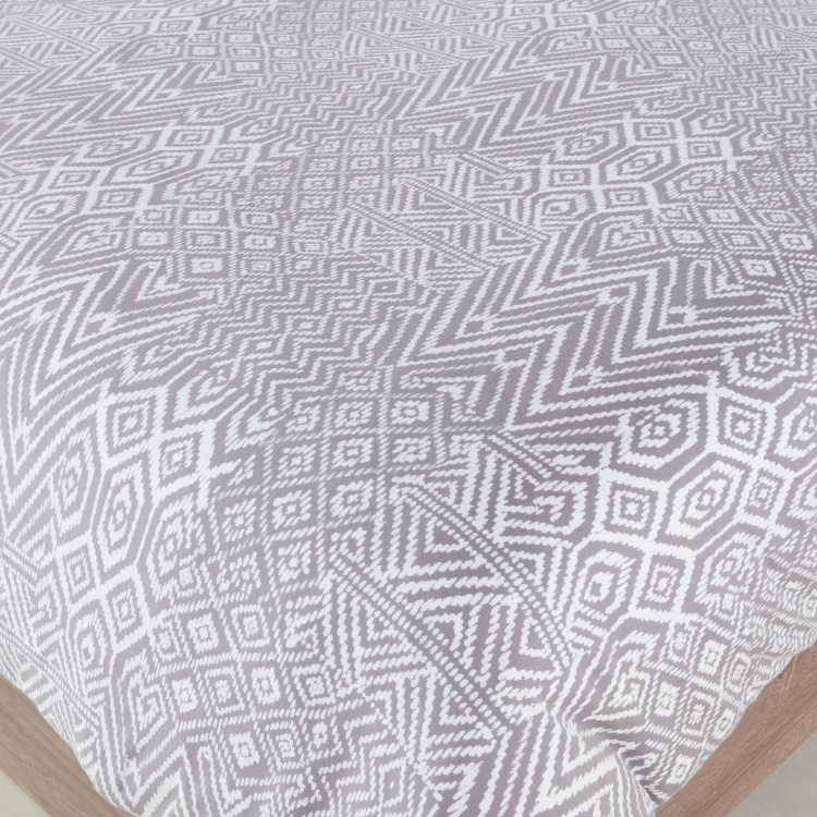 Aztec Jersey Printed 3-Piece Queen Duvet Cover Set - 200x200 cms