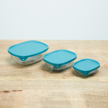Nest & Store Rectangular Storage Box with Lid - Set of 3