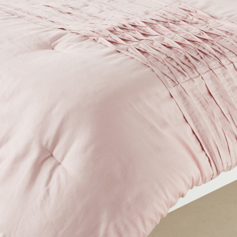 Pleated Pintucks 3-Piece Full Comforter Set - 160x240 cms