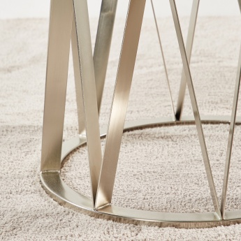 Vector End Table with Glass Top
