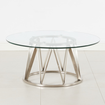 Vector Coffee Table with Glass Top